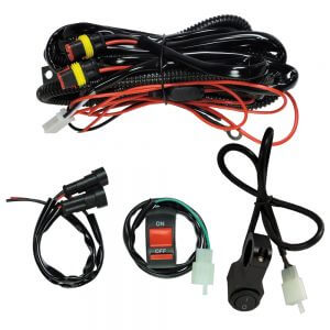 standard wire set with premium wire set for motorbike driving lights