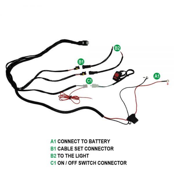 wire set of the auxiliary light for motorcycle led driving light