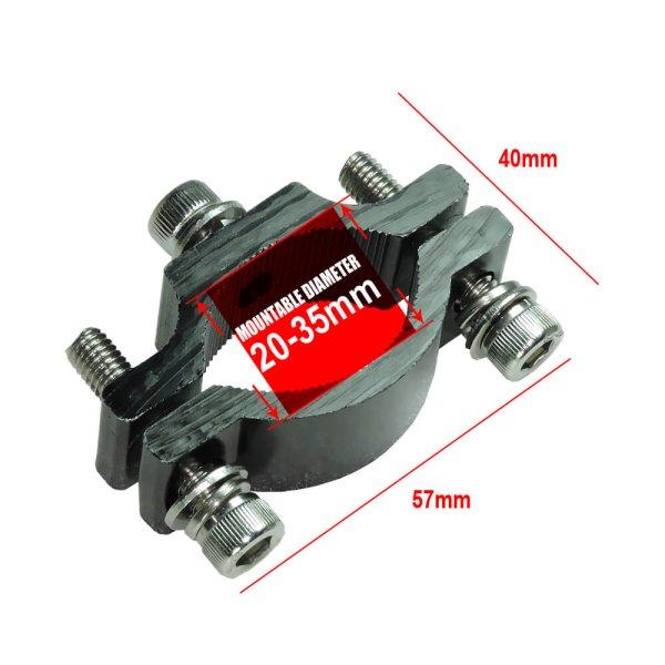 led light for motorbike of mounting bracket for 20-35 mm
