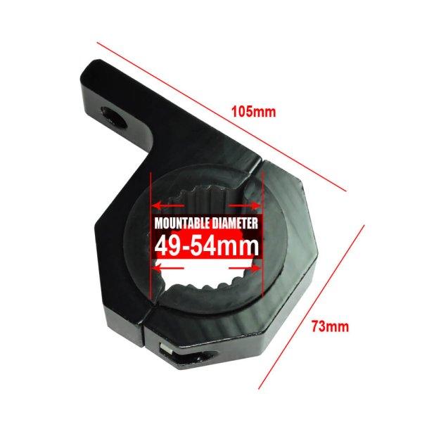 led light for motorcycle mounting bracket 49-54 mm