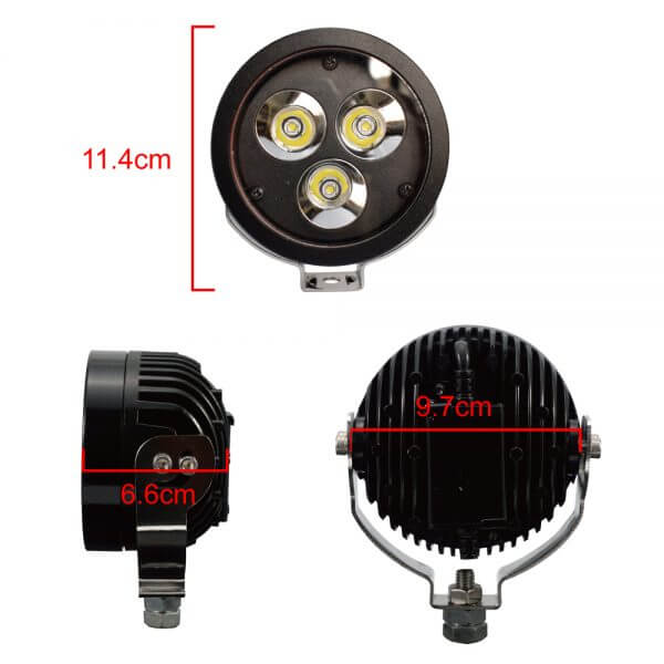 30 W auxiliary light for motorbike led driving fog lights
