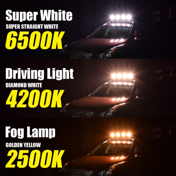three color change for light demo of custom lighting for motorcycles with emark approval exclusive design auxiliary light