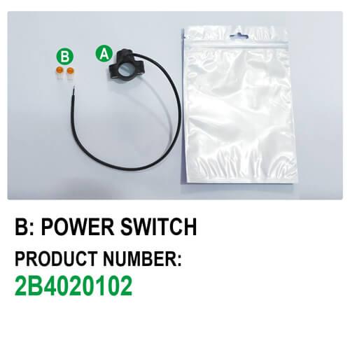 Switch Button E-Bike Power Switch (Type B) Package