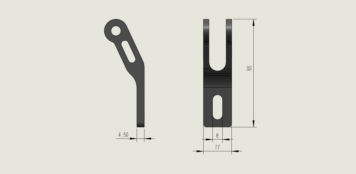 Fork Mounting Brackets Bike Headlight Bracket (Standard Type A) SIZE