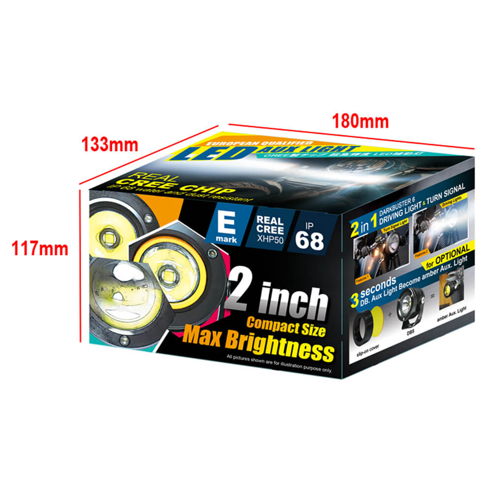 Color Box for motorcycle spot light