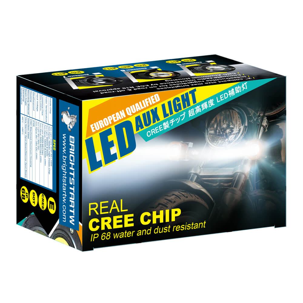 Color Box of street legal driving lights