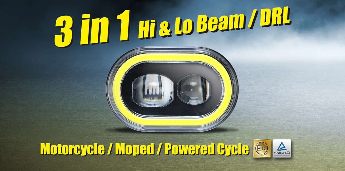 DB E1 combines with Hi beam. Lo beam and Day Time Running