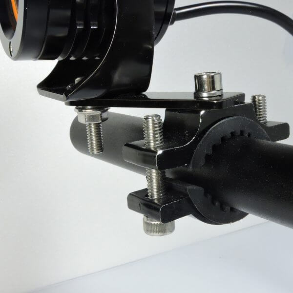 motorcycle headlight brackets with rubber and bracket