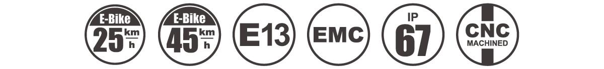 E-MARK 3 In 1 E-bike Tail Light - DARKBUSTER T2 icon
