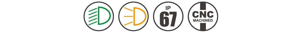 Electric Motor Bike Lights E-mark DB E3 icon-4