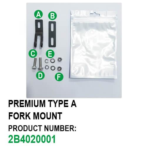 Fork Mount Bike Headlight Bracket (Premium Type A) Package