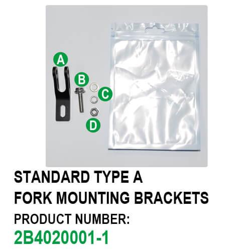 Fork Mounting Brackets Bike Headlight Bracket (Standard Type A) Package