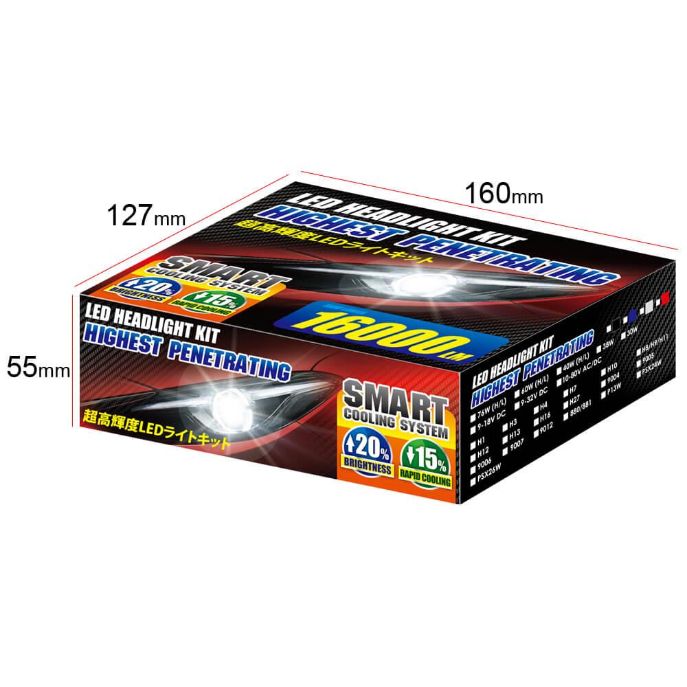 LED11 color box of 7000 lumen h4 led headlight bulb