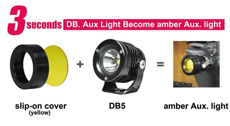 Slip-On Cover Set for Best LED Aux light for Motorcycle