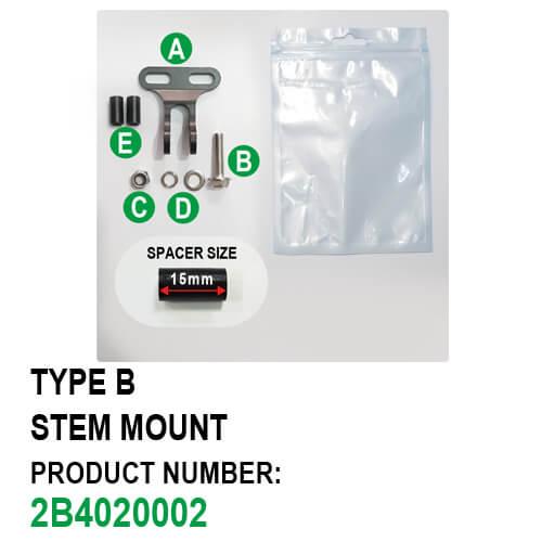 Stem Mount Headlight Bracket Type B