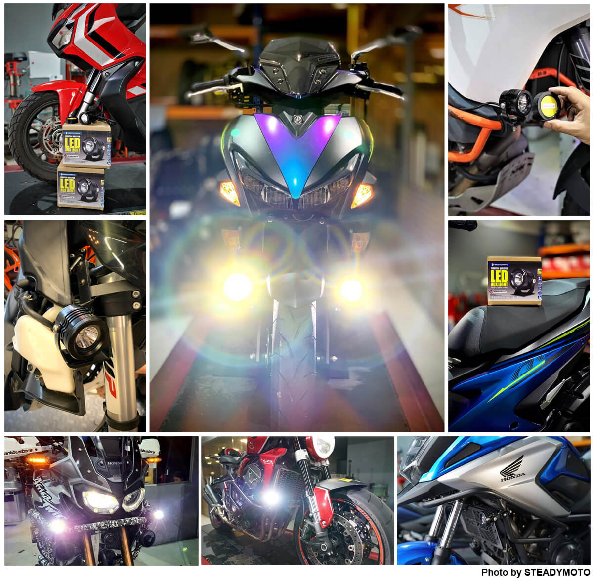 What are the best choices of LED Aux. lights for motorcycle -4