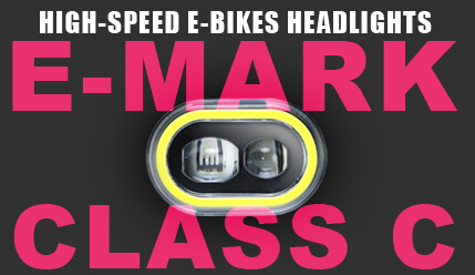 Why high-speed E-bikes Need E-mark Class C Approval Headlights