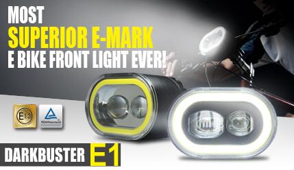 e bike Front Light Darkbuster E1 is the most innovative Green Lighting!