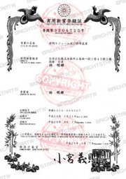 japan patent of insurance for motorcycle led driving light